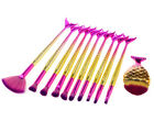 11pcs Shimmer HotPink-Gold Mermaid Unicorn FishTail Eye Makeup Brush Set