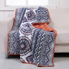 Medina Saffron Quilted Throw by Greenland Home Fashions
