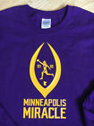 MINNEAPOLIS MIRACLE MINNESOTA VIKINGS T-SHIRT 01-14-18 MEN AND WOMEN SIZES SKOL