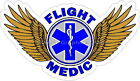 Depart Medic Star of Life Reflective Decal Sticker Paramedic EMS Helicopter