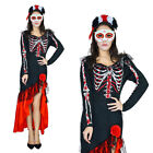 mexican day of the dead halloween costumes - Day Of The Dead Senorita Fancy Dress Halloween Skull Mexican Zombie Costume