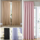 Voile Lined Pencil Pleat Curtains 11 Colours 12 Sizes - Spring Fresh Curtains