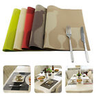 """PVC Insulation Bowl Tableware Placemats Place Mat Table Coasters Dining 18""""x12"""""""