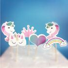 Unicorn Cupcake Toppers Birthday Cake Toppers Rainbow