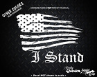 """I STAND FLAG COUNTRY AMERICA SUPPORT RESPECT 5""""Car Window Decal Laptop Sticker"""