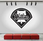 Philadelphia Phillies Logo Wall Decal Sport Sticker Decor Black Vinyl MLB CG288 on Ebay