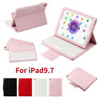 For iPad 9.7 2018 Gen 6 Magnetic Closure Case Removable Bluetooth Keyboard Skins