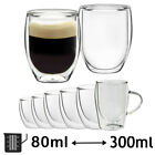 Double Walled Thermal Shot Glass Coffee Latte Espresso Tea Cups Tumbler Glasses