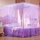 Romantic Princess Canopy Mosquito Net No Frame for Twin Full Queen King Bed Braw image