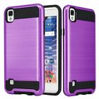Armor Brushed Shockproof Protector Case Cover for LG tribute HD /X Style /Volt 3