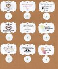 Wedding Tags/ Large quantity to choose from!