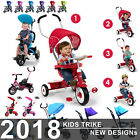 Baby Kids Smart Ride on Trike Tricycle 4 In 1 Bike 3 Wheels Canopy UK New Design