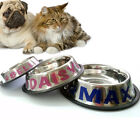 Personalized Stainless Steel Pet Bowl. For Dog, Cat. CUSTOM NAME. 8 OZ. (1 CUP)
