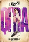 "Solo A Star Wars Story Movie Emilia Clarke Qi'Ra Art Poster 14×21 27×40"" 32×48"" $14.9 USD on eBay"