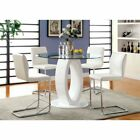 counter height dining table black - FoA Damore Contemporary Counter Height High Gloss Round Dining Table