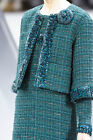 $9740 NEW CHANEL Runway GREEN Sequins Lesage Suit Jacket Camellia Brooch 38