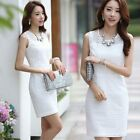 Women Casual Dress High Fashion Autumn And Spring Lace Sleeveless Lace Dress