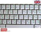 Thai Transparent Keyboard Stickers Computer Laptop 7 Colours Red Blue White etc.