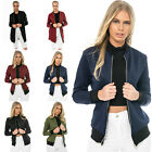 Womens Zipper MA1 Bomber Jacket Motorcycle Classic Retro Style Stylish Parka Top