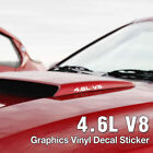 4.6L V8 Hood Air Scoop Side Rear Graphics Vinyl Decal For FORD 1999-2004 Mustang