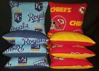 Kansas City Royals Chiefs Set of 8 Cornhole Bean Bags FREE SHIPPING on Ebay