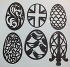 8 EASTER OVAL DOLLIE DIE CUTS  SILHOUETTE black or white