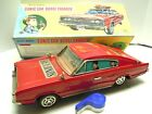 "16"" 1965 Japan T.N Tin Battery Dodge Charger 007 Secret Agent Car w/BOX. A+.WORK $375.0 USD"