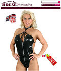 PVC Ring Neck Body dress Black / Red / Pink (S1202)