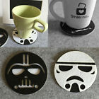 Anime Star Wars Cup Drinks Holder Coffee Felt Mat Placemat Pads Round Tableware $0.99 CAD