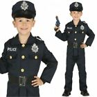 Kids Boys Police Officer Costume US Cop PC Fancy Dress Book Week Uniform Outfit