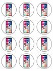 iPhone X pre-cut Edible Icing, Sugar Topper or Ribbon for Birthday Cake