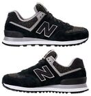 NEW BALANCE 574 WINTER NIGHTS WOMEN's SUEDE CASUAL BLACK - WHITE AUTHENTIC NEW