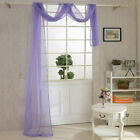 Feathers Floral Tulle Voile Door Window Curtains Drape Panel Sheer Scarf Valance