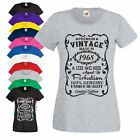 50th Birthday Gift T-Shirt Made in 1968 Aged 50 Years Vintage Star Ladies Top