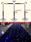 20x10FT  Black LED Starlight Backdrop Curtain& Portable Stands Frame for Wedding
