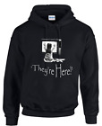 HOODIES THEYRE HEREPOLTERGEIST MOVIES FILMS HORROR SCARYQUOTES SM 3XL