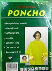 "LOT OF 4 , 6,12--LIGHT WEIGHT PONCHO, ATTACHED HOOD, 52"" X 80"" ONE SIZE FITS ALL"