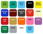 Wall Tile Vinyl Transfer Stickers 150mm Bathroom Kitchen 21 Colours Multipack