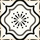 Black & white tiles tile stickers  24 DECALS Mexican ceramic Kitchens DIY B5