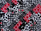 RED/BLACK/WHITE 2 ~ COTTON FABRIC PATCHWORK SQUARES PIECES CHARM PACK 4 5 INCH