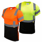 50 Pcs Wholesale Hi Vis T Shirt ANSI Class 3 Safety Short Sleeve -BFS8511/12