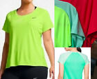 NWT Nike Miler Running Top 1x,2x,3x,XL Crimson Red Womens TS