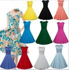 Women 50S 60S Rockabilly Vintage Swing Pinup Housewife Lady Party Fashion Dress