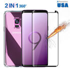 Full Cover Tempered Glass Screen Protector +TPU Case For Samsung Galaxy S9 /Plus
