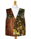 Steam Punk Clocks And Cogs Fancy Dress Waistcoat For All Occasions Parties
