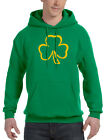 Men's Shamrock Leaf Outline Green Hoodie St. Patrick's Beer Ireland Irish V513
