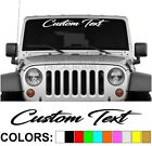 Custom Text Script Vertical Side Windshield Decal 32x4 Vinyl Truck Turbo Diesel