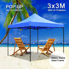 3x3M Heavy Duty Pop-Up Garden Gazebo Commercial Market Party Tent Marquee Canopy
