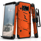Galaxy S8 Active Case - Zizo Bolt w/ Screen Protector, Kickstand and Holster
