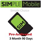 PRELOADED Simple Mobile SIM with $50 PLAN X 3 Months  Included! ( $150Value)